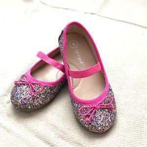 Cat & Jack Glitter Ballet Girls Shoes Size 8